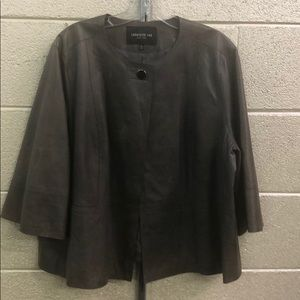 Lafayette 148 distressed leather jacket